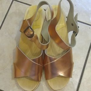 New No. 6 Rose Gold Clog High Heel Sandals Sz 39
